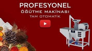 PUDRA ŞEKERİ ÖĞÜTME MAKİNASI T180 TAM OTOMATİK   ANİMASYON