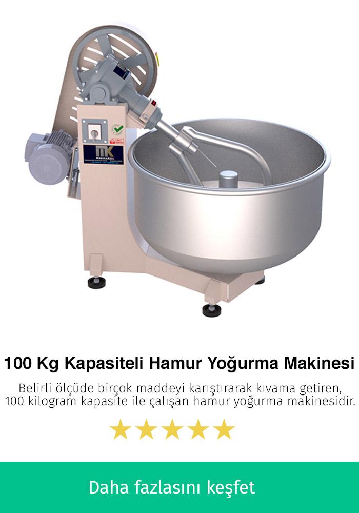100 Kilogram Kapasiteli Hamur Yoğurma Makinesi