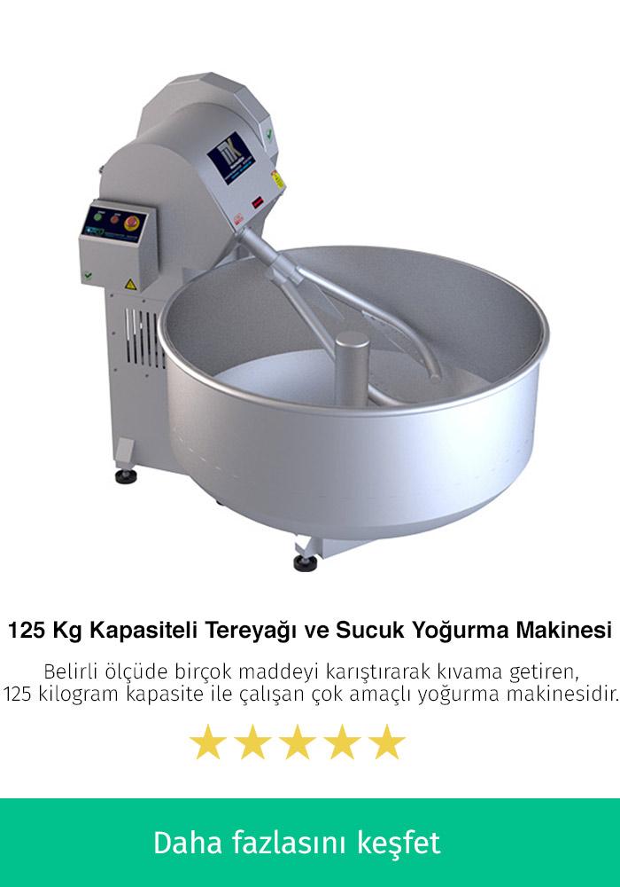 125 Kilogram Kapasiteli Tereyağı ve Sucuk Yoğurma Makinesi