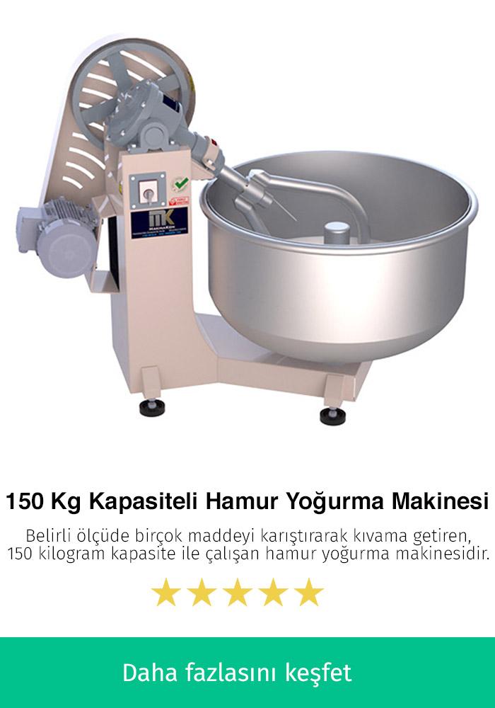 150 Kilogram Kapasiteli Hamur Yoğurma Makinesi