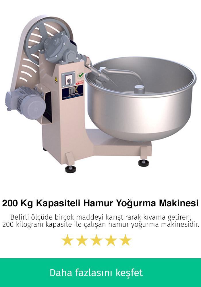 200 Kilogram Kapasiteli Hamur Yoğurma Makinesi