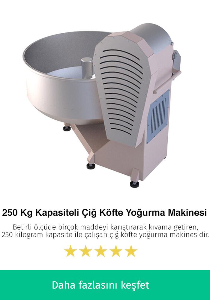 250 Kilogram Kapasiteli Çiğ Köfte Yoğurma Makinesi