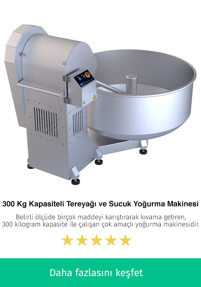 300 Kilogram Kapasiteli Tereyağı ve Sucuk Yoğurma Makinesi