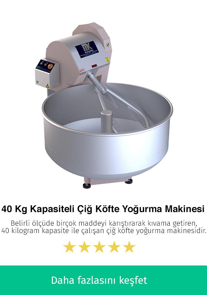 40 Kilogram Kapasiteli Çiğ Köfte Yoğurma Makinesi