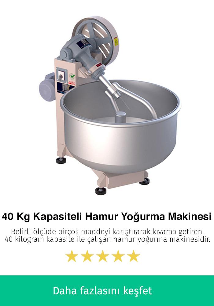 40 Kilogram Kapasiteli Hamur Yoğurma Makinesi