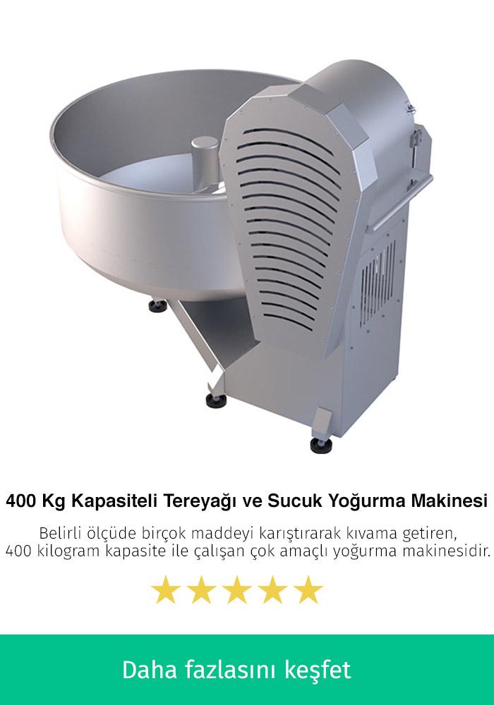 400 Kilogram Kapasiteli Tereyağı ve Sucuk Yoğurma Makinesi