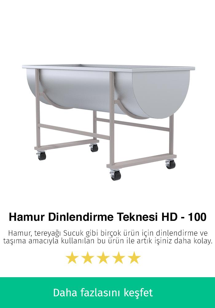 Hamur Dinlendirme Teknesi - HD-100