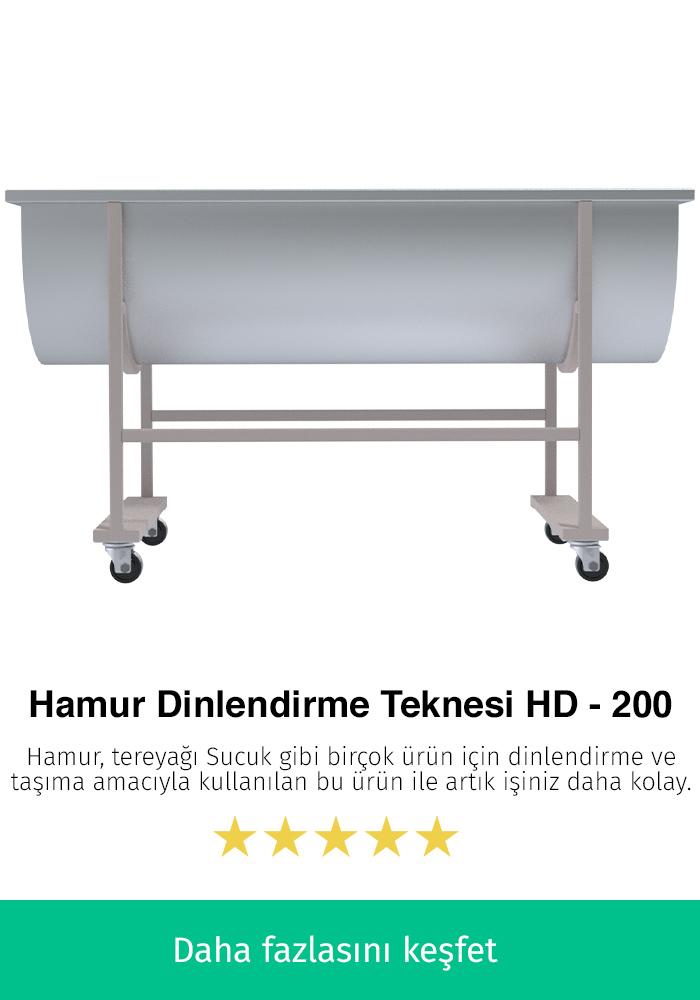 Hamur Dinlendirme Teknesi - HD-200